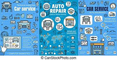 szerelő, fenntartás, rendbehozás, szolgáltatás, autó, autó