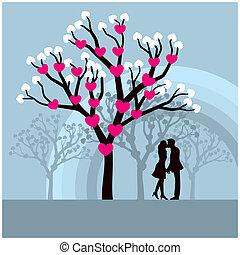 szerelmes pár, csókolózás