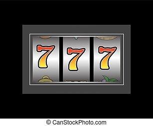 szerencsés 7, rés, csévél
