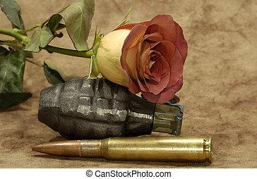 szeret, és, háború