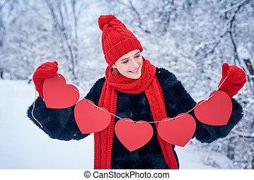 szeret, és, valentines nap, fogalom