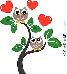 szeret, ünneplés, valentines nap