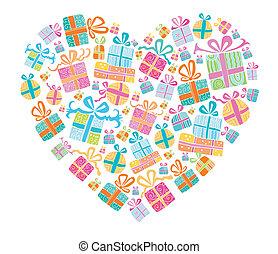 szeret, ajándékoz