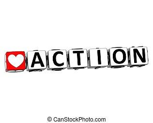 szeret, akció, csattant, tömb, szöveg, gombol, 3, itt