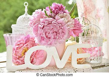 szeret, babarózsa, fából való, hatás, dekoráció, szín, irodalomtudomány, menstruáció