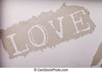 szeret, dolgozat, elvont, beige háttér