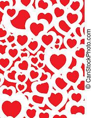 szeret, háttér, piros