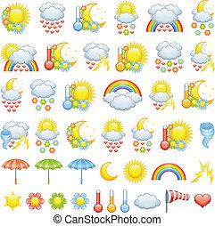 szeret, időjárás, ikonok
