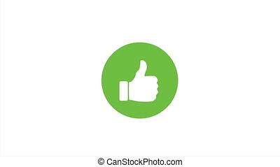szeret, ikon, friss, élénkség, zöld, 4k, karika, lapozgat