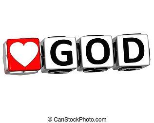 szeret, isten, gombol, itt, szöveg, csattant, tömb, 3