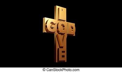 szeret, isten, kereszt