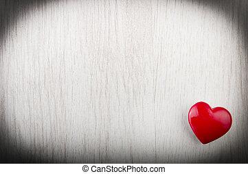 szeret szív, képben látható, fa alkat, háttér, valentines nap, kártya, fogalom