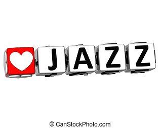szeret, szöveg, gombol, dzsessz, itt, csattant, tömb, 3