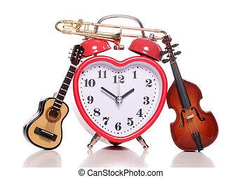 szeret, zene, idő