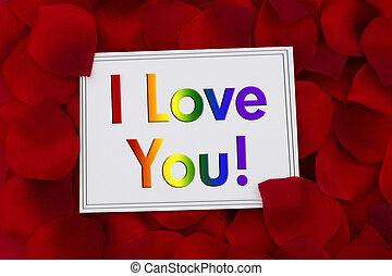 szeretlek, kártya