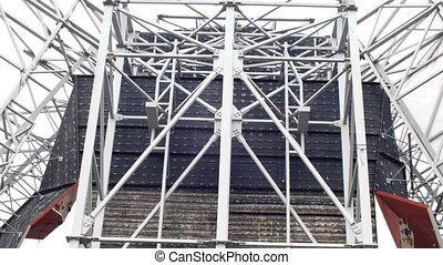 szerkesztés hely, acél, keret, szerkezet
