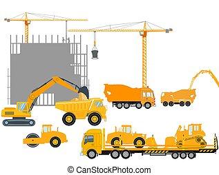 szerkesztés, industry.eps, szerkesztés, beton- épület