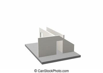 szerkesztés, közül, egy, épület