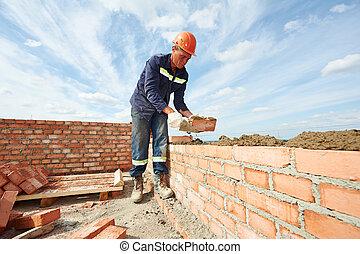 szerkesztés, kőműves, munkás, kőműves
