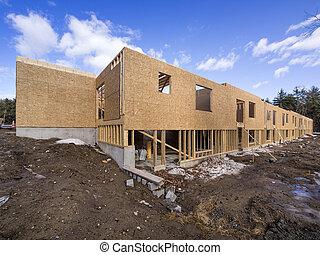szerkesztés, koholás, épület, új