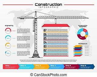 szerkesztés nyújtogat, infographics, épület