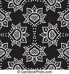 szerkezet, seamless, marokkói, kéz, vektor, tervezés, húzott