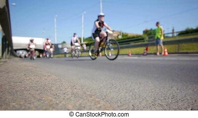 szeroki, kolarstwo, marathon., -, hd, prospekt