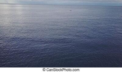 szeroki, prospekt, strzał, ocean