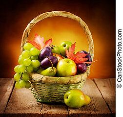 szerves, érett, gyümölcs