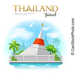 sziget, kicsi, kret, pagoda, piros, kiütés, fehér, szerkezet...