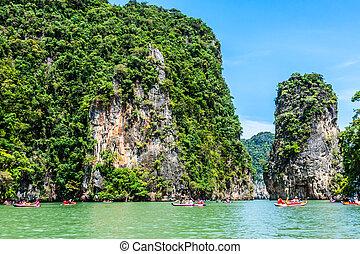 sziget, phang, nga, thaiföld
