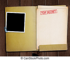 szigorúan bizalmas, folder.