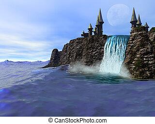 sziklák, óceán