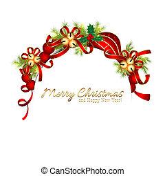 szikrázó, karácsony, csengő, hópehely, köszönés kártya