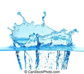 szikrázik, közül, blue víz, képben látható, egy, white háttér