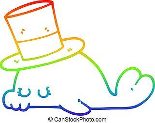 szivárvány, csinos, gradiens, delfin, rajz, egyenes, karikatúra