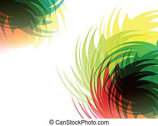 szivárvány, elvont, színes