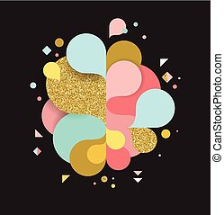 szivárvány, fogalom, színes, poszter, loccsanás, elvont, szín, háttér, vektor, tervezés