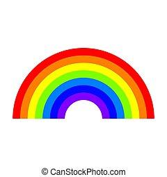 szivárvány, vektor, ábra, színes