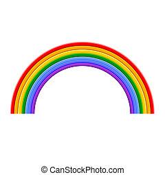 szivárvány, vektor, színes, ábra