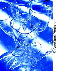 szkło, abstrakcyjny, wino