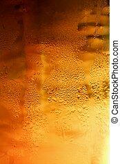 szkło, piwo, bańki