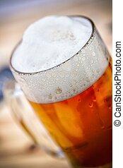 szkło, piwo, -, szczegół
