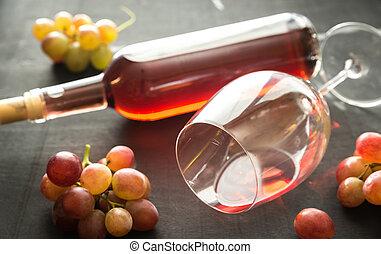 szkło, podlatywałem wino