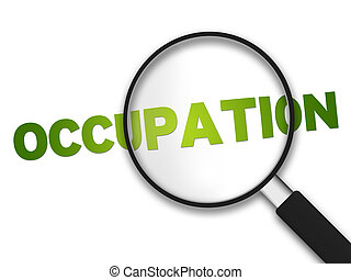 szkło, -, powiększający, okupacja