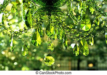 szkło, zielony
