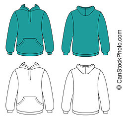 szkic, hoodie, ilustracja