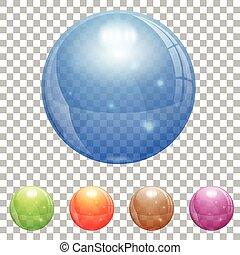 szklana piłka, przeźroczysty