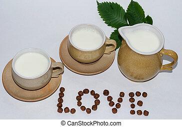 szklane mleko