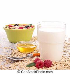 szklane mleko, zboże
